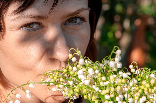 Spring, Lilies Of The Valley, Girl, Person, Portrait
