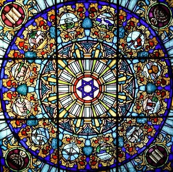 Vitrage, Stained Glass, Church Window, Star