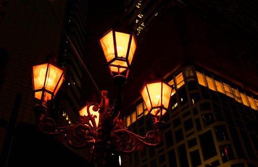 Lighting, Street Lights, Night, City, In The Evening