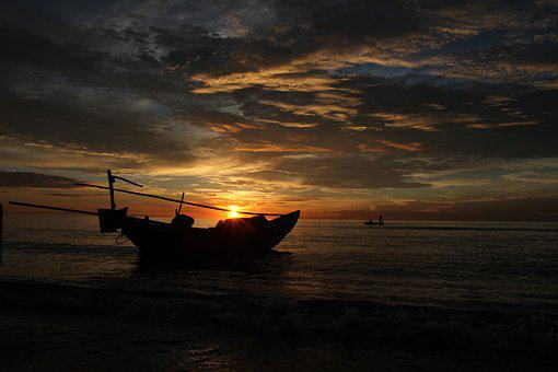Hai Hoa Beach, Vietnam, Beach, Sunrise, Ocean, Sun