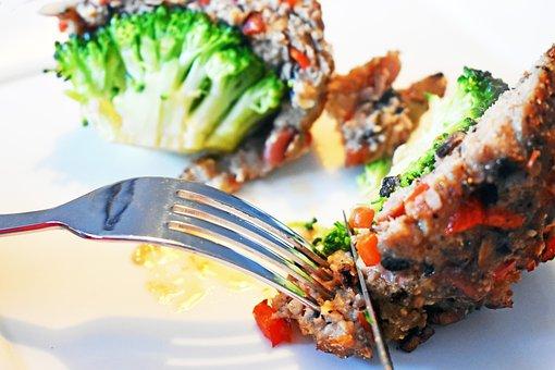 Fork, Broccoli, Minced, Dinner, Board, Tasty