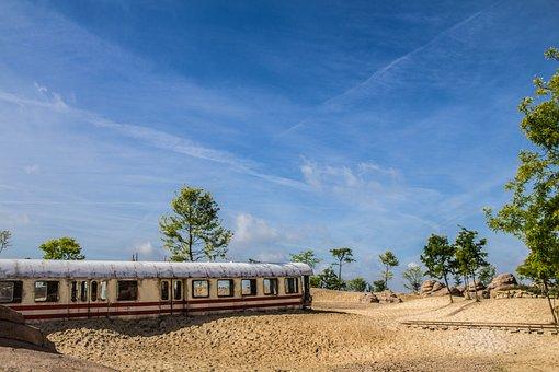Train Wagons, Landscape, Western, Transportation, Sky