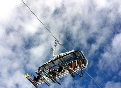 Lift, Skiing, Chairlift, Transport, Upward, Together