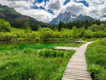 Zelenci, Slovenia, Mountains, Lake, Nature, Landscape