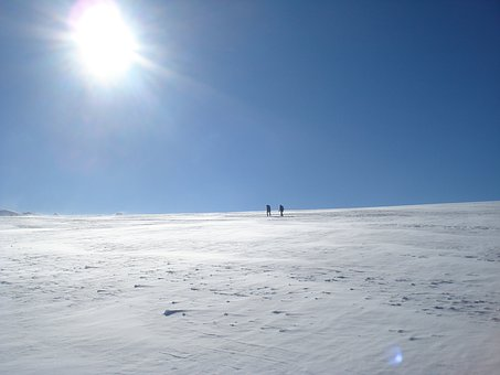 Tour, Glacier, Breithorn Plateau, Zermatt, Winter