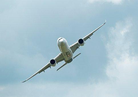 Airbus, A350, Passenger Aircraft, Overflight