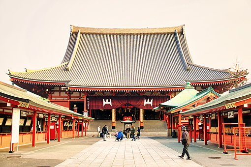 Asakusa, Senso-ji Temple, Morning, Japan, K