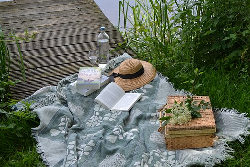 Picnic, Book, Park, Outdoors, Lifestyle, Summer
