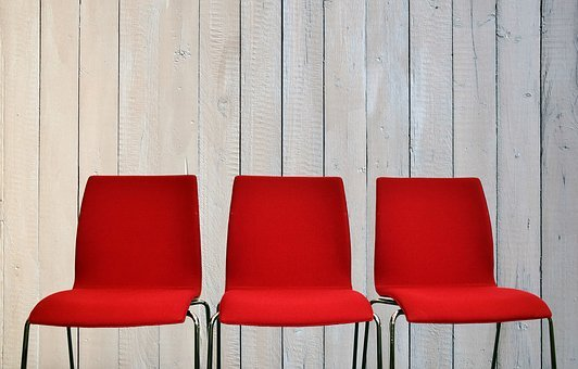 Chairs, Wait, Sit, Seat, Break, Seats, Red, Rest, Empty