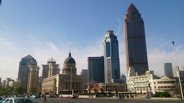 China, Tianjin, Tall Buildings, Tianjin Concert Hall