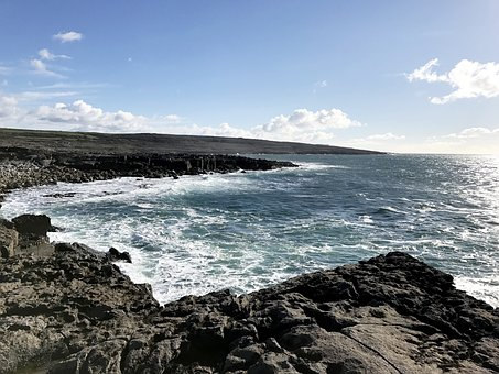 Coasta, Atlantic, Ocean, Apa, Ireland, Clare