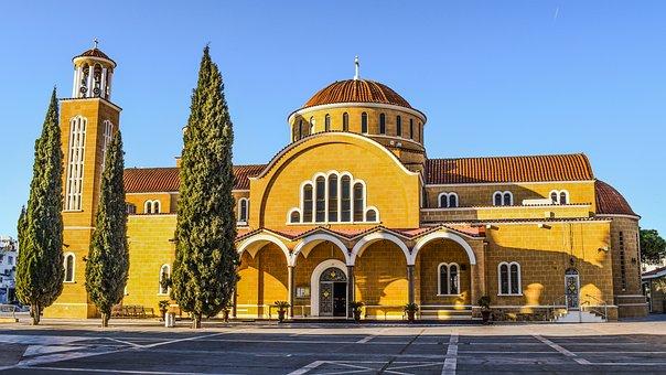 Cyprus, Paralimni, Ayios Georgios, Church, Architecture