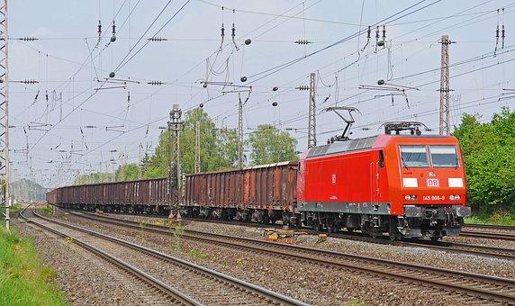 Freight Train, Block Train, Db, Deutsche Bahn, Dbag