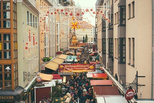 Dresden, Germany, Christmas Market, Christmas, Landmark