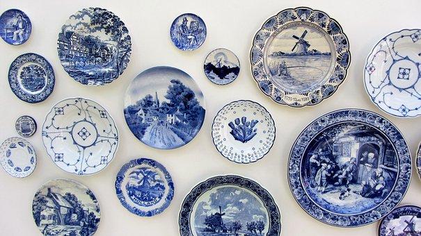 Delft, Delfts Blue, Board, Holland, Antique