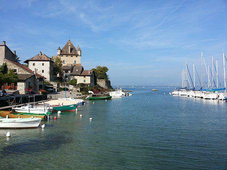 Yvoire, Haute Savoie, Lake Geneva, Lake