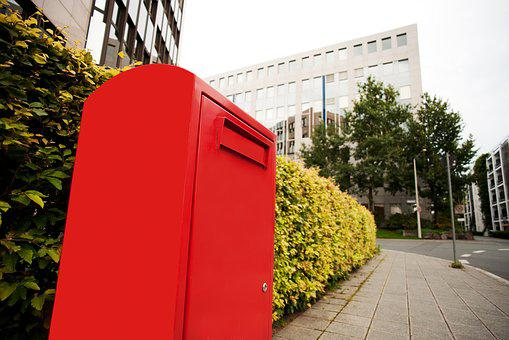 Mailbox, Post, Red, Send, Letter Boxes, Post Mail Box