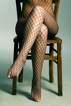 Underwear, Lingerie, Act, Woman, Fishnet Stockings