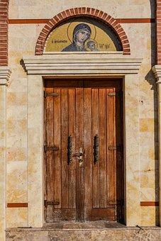 Door, Wooden, Lintel, Entrance, Architecture, Church