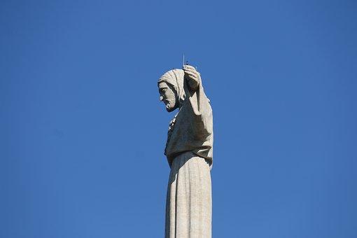 Christ The King, Lisbon, Blue, Observe, Protect