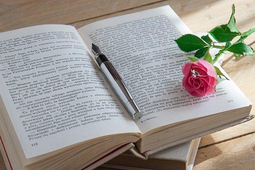 Book, Rose, Pen, Ring, Love, Romantic, Love Story