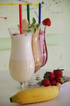 Milk, Drink, Beverage, Yogurt, Drinking Straw, Sweet