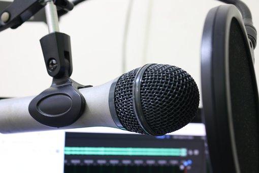 Microphone, Podcast, Pop Filter, Music, Sound Studio