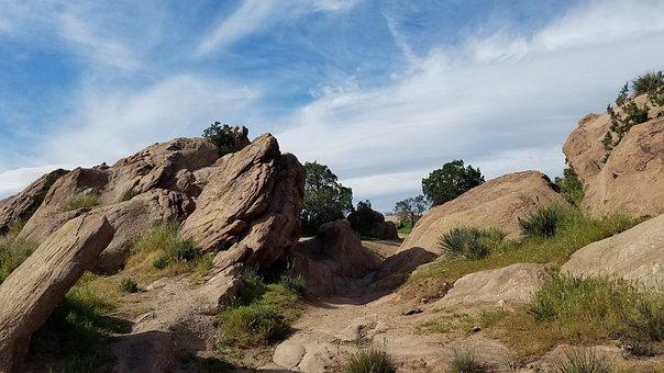 Vazquez Rocks, Nature, California, Terrain, Feature