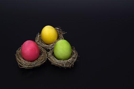Easter Nest, Nest, Easter Eggs, Colorful, Easter