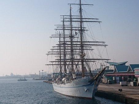 Ship, Nippon Maru, Sea, Kagoshima