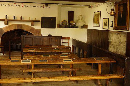 Cartmel, Old School, Old Fashioned, School Desk