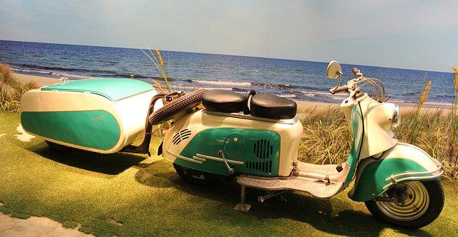 Motor Scooter, Oldtimer, Old, Motorcycle, Roller, Cult