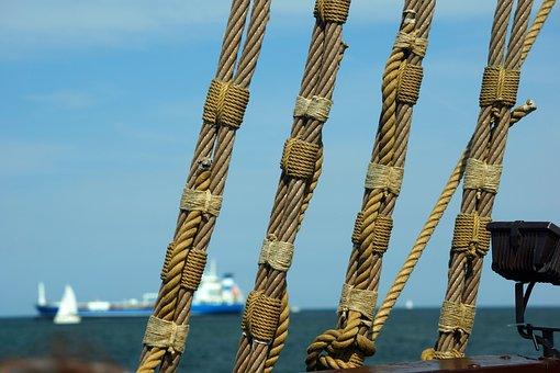 Rigging, Ropes, Cog Ship, Sailing Vessel, Dew, Cordage