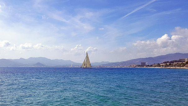 Sea, Sailing Vessel, Boot, Cannes, Côte D ' Azur