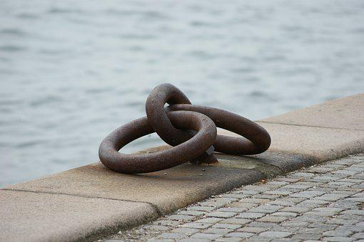 Pier, Ship, Sea, Copenhagen, Metal Rings, Water