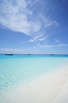 Maldives, Beach, Emerald Sea, Summer, Vacation, Sky