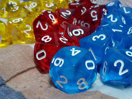 Dice, Toys, Dice Ten Page, Colors, Luck, Game Board