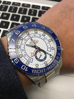 Watch, Clock, Time, Rolex, Yacht Master Ii