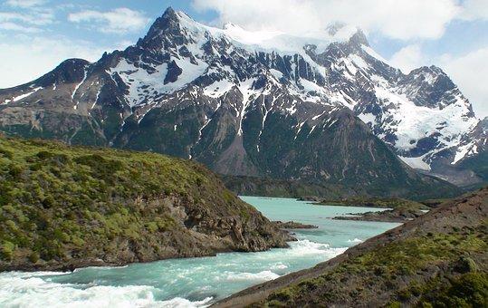 Salto Grande Rio Paine, Argentina, Waterfall, Mountain
