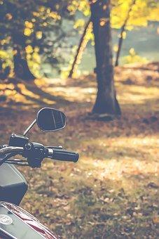 Motorcycle, Mirrow, Bikes, Handlebar, Circle