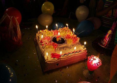 Happy Birthday, Cake, Candles, Party, Birthdays, Kids