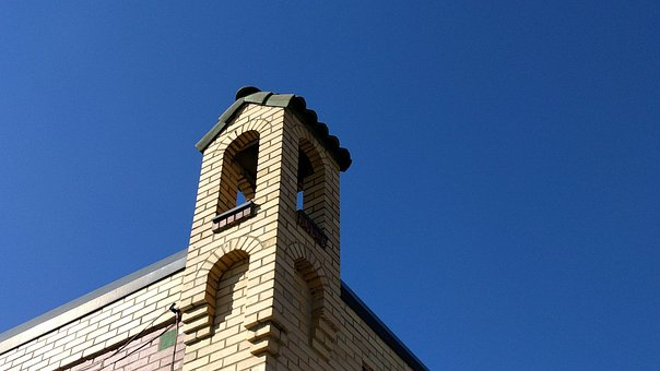 Bell's, Brewery, Tower, Blue, Sky, Brick, Architecture