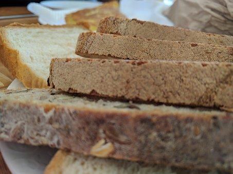 Bread, Food, Bakery, Bread Slices, Breakfast