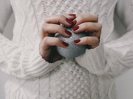 Christmas Ball, Christmas Decor, Hands