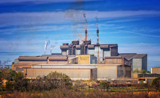 Factory, Industry, Pollution, Climate Change, Chimney