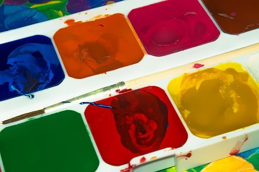 Paint, Color, Yellow, Red, Blue, Rainbow, Green