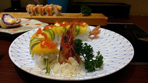 Sushi, Japan Cuisine, Creative Volume
