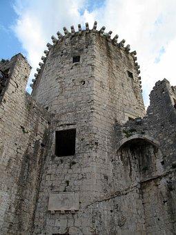 Tower, Trogir, Croatia, Old, Town, Unesco, Dalmatia