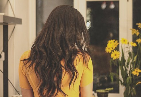 Brunette, Curly Hair, Girl, Hair, Yellow
