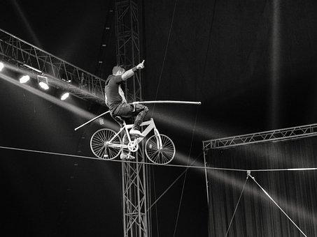Rope Walker, Acrobat, Rope, Danger, Risk, Balance